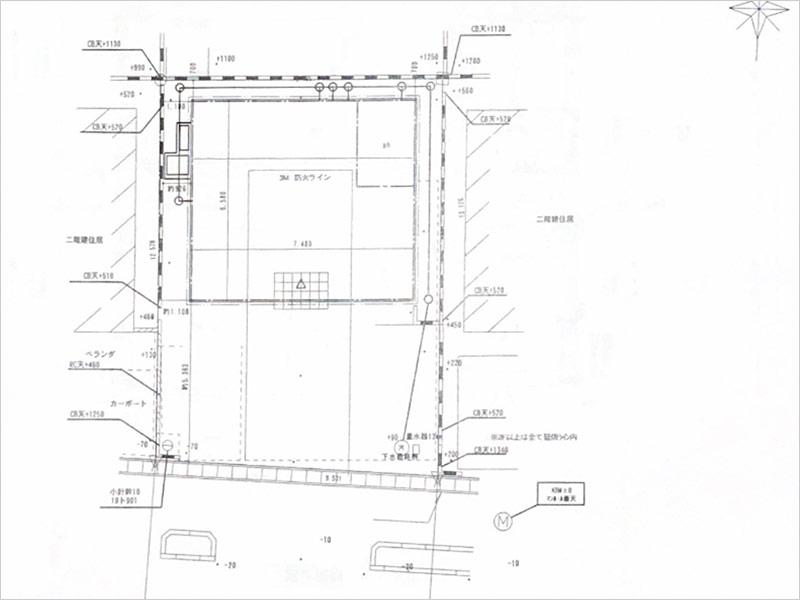 建築配置図